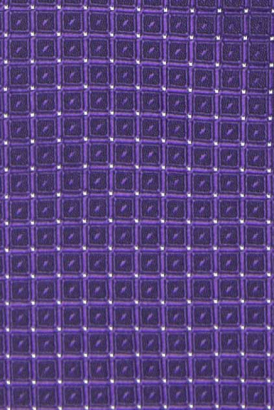 Cravata poliester tesut mov print geometric