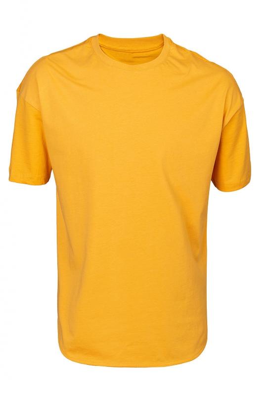 Tricou oversize galben