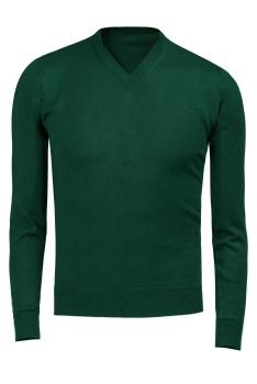 Pulover verde uni
