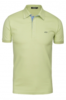 tricou polo slim verde