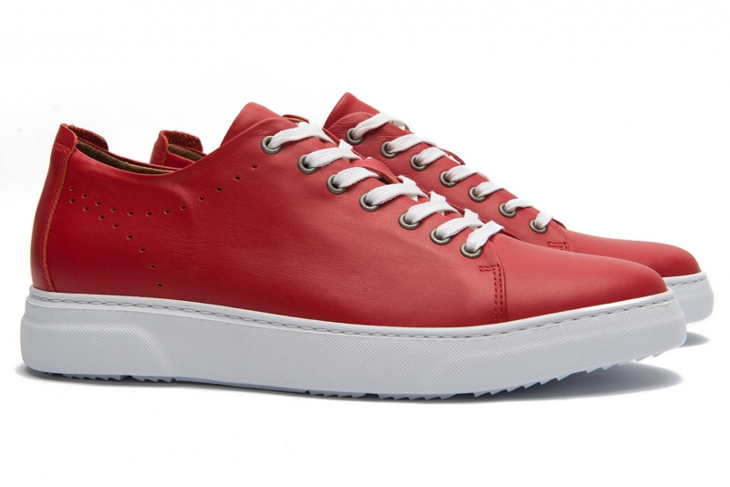 Sneakers Bigotti rosii piele naturala