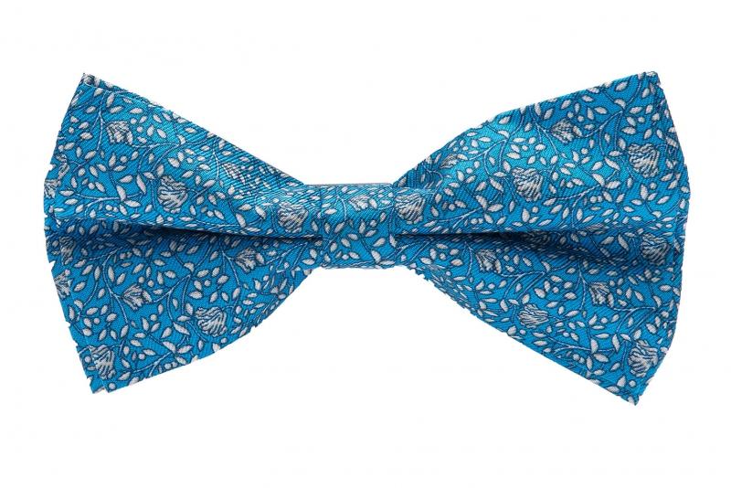 Papion albastru print floral