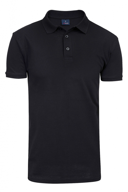 tricou polo slim negru