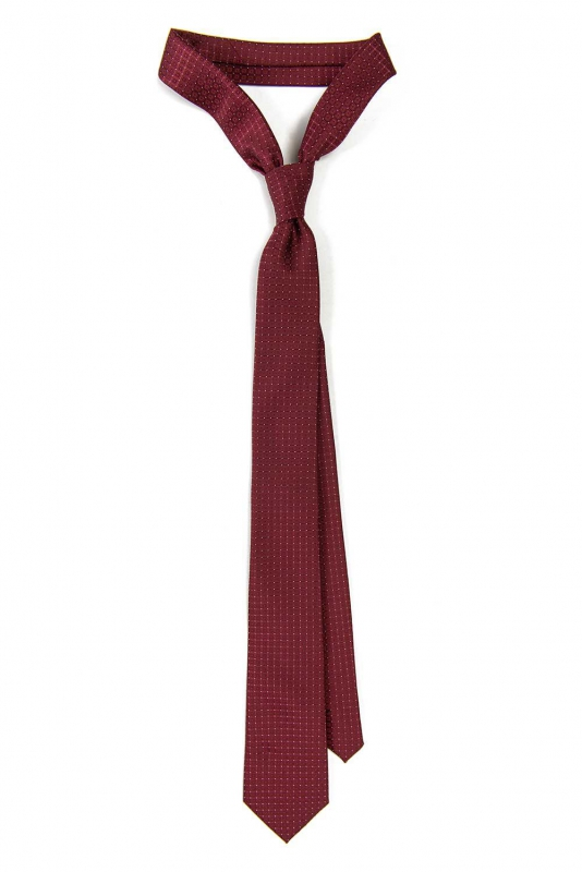 Cravata poliester tesut grena uni cu structuri
