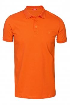 Tricou polo slim portocaliu