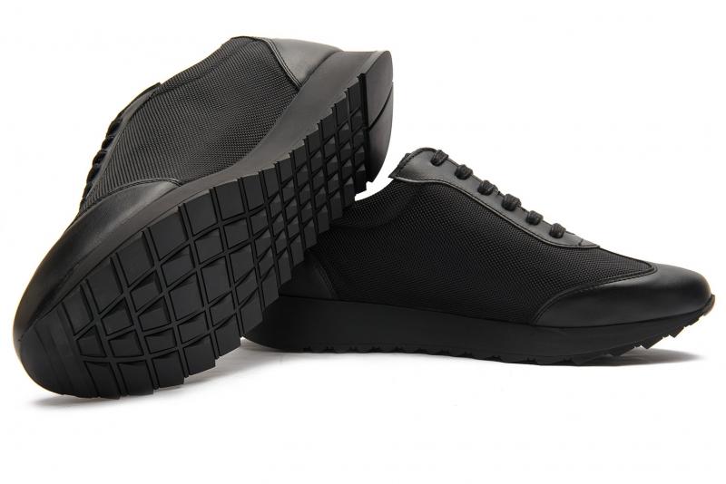Sneakers Bigotti  negri piele naturala