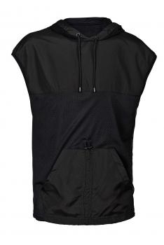 Tricou oversize negru cu gluga