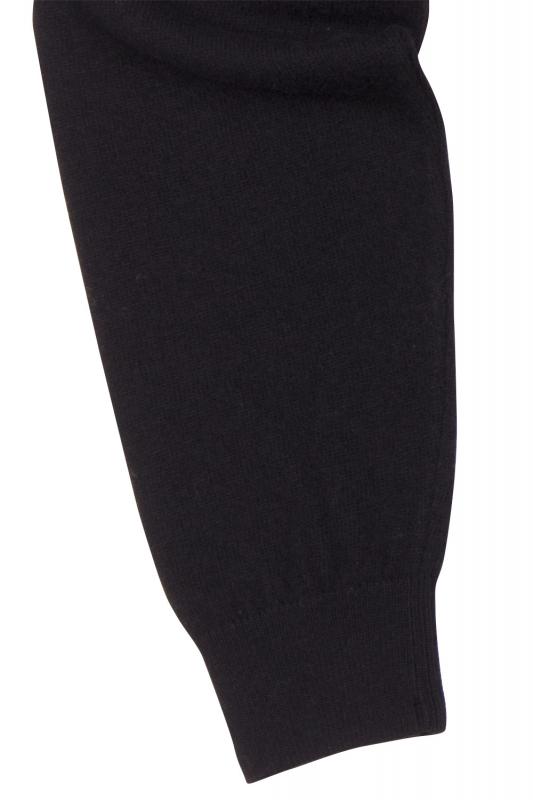 Pulover slim negru cu fermoar