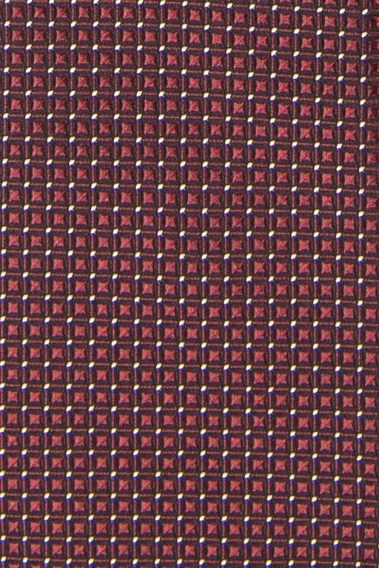 Cravata poliester tesut grena print geometric