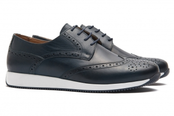 Sneakers Bigotti bleumarin piele naturala