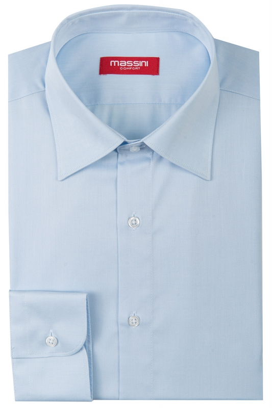 Camasa superslim albastra uni