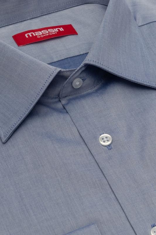 Camasa regular albastra uni