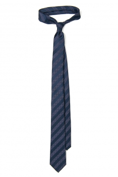 Cravata poliester tesut bleumarin dungi