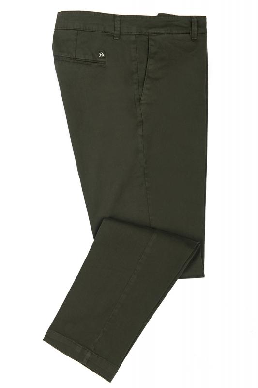 Pantaloni slim verzi uni