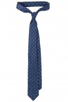 Cravata bleumarin print geometric