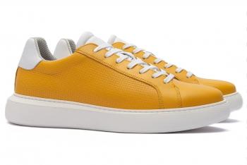 Sneakers Bigotti galbeni piele naturala