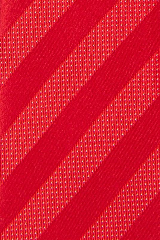 Cravata poliester tesut rosie dungi
