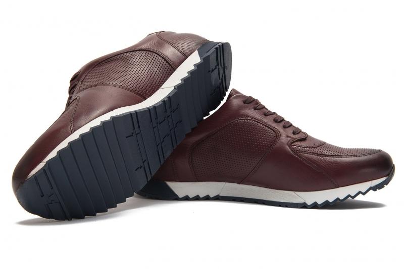 sneakers grena piele naturala