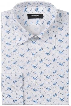 Camasa bigotti superslim alba print floral