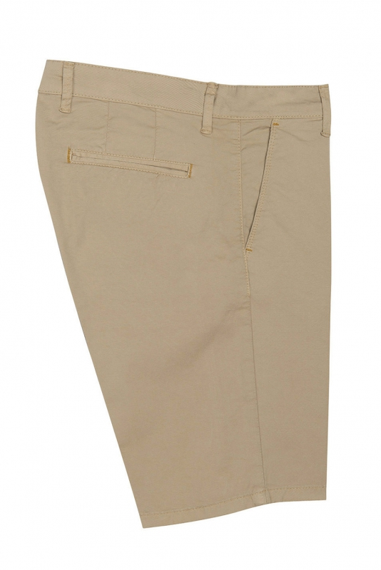 Pantaloni scurti slim bej uni