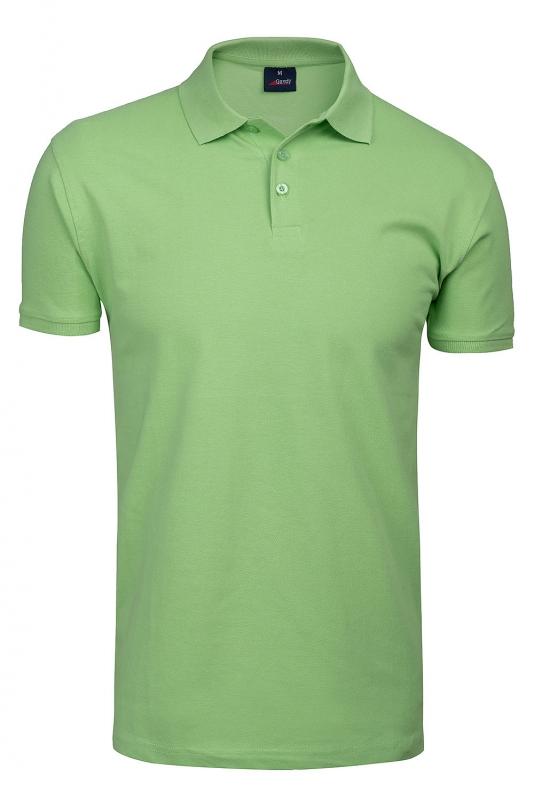 tricou polo slim verde uni