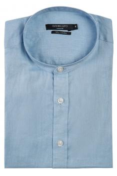Camsa slim din in bleu uni