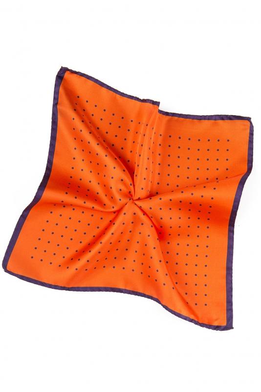 Batista oranj print geometric matase imprimata