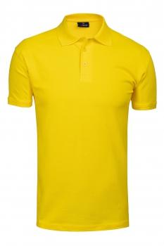 tricou polo slim galben uni