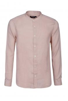Camasa slim din in roz uni