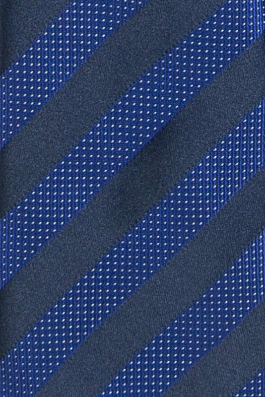 Cravata poliester tesut bleumarin cu dungi