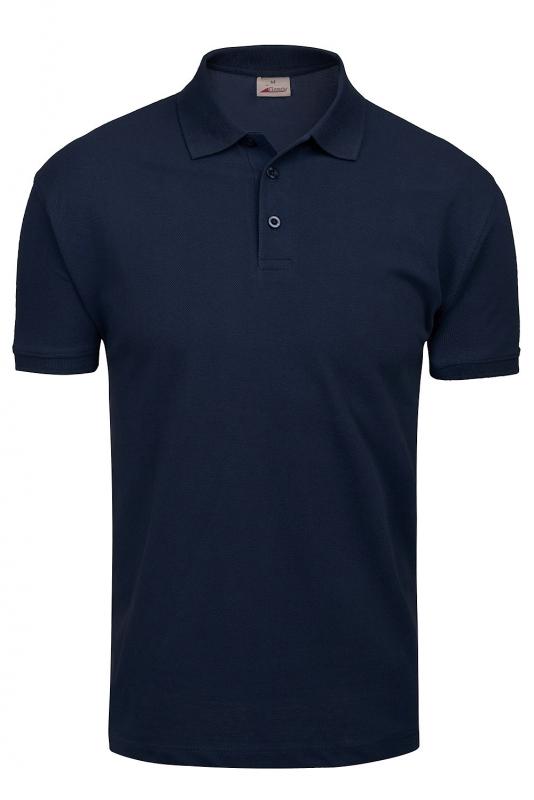 tricou polo slim bleumarin