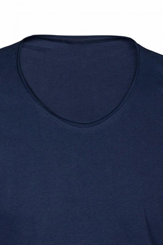Tricou slim bleumarin