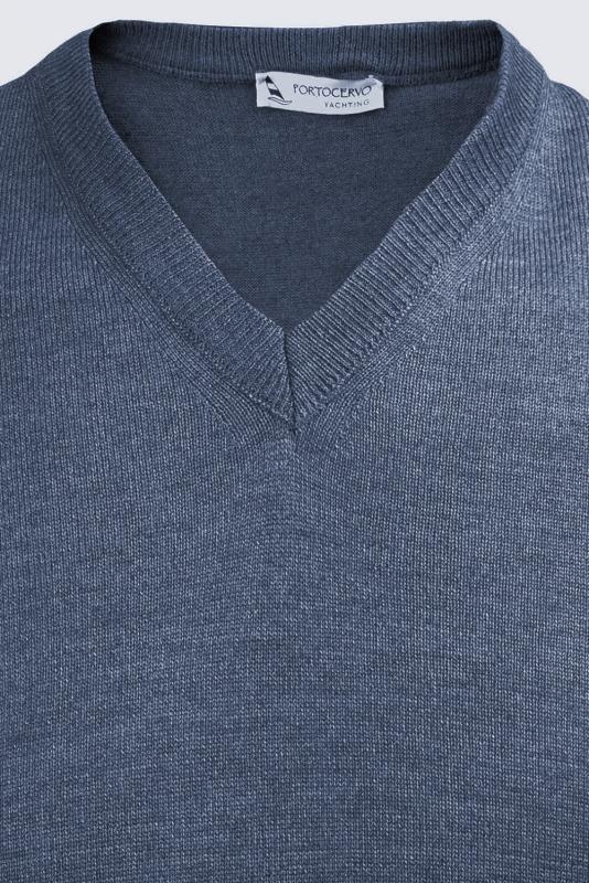 Pulover slim albastru v