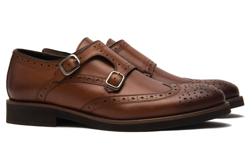 Pantofi Bigotti maro piele naturala