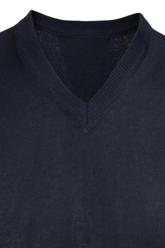 Pulover slim bleumarin v