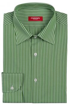Camasa slim verde cu dungi
