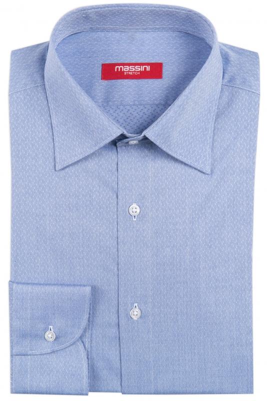 Camasa slim bleu cu structuri