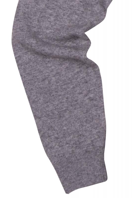 Pulover slim gri cu fermoar
