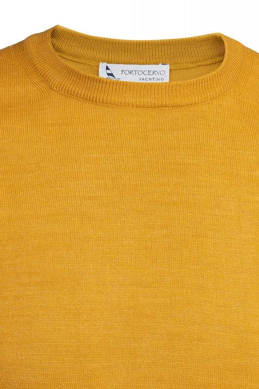 Pulover galben guler rotund