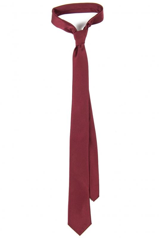 Cravata poliester tesut grena uni