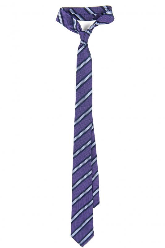 Cravata matase tesuta mov cu dungi