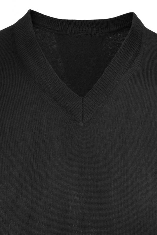 Pulover slim negru v