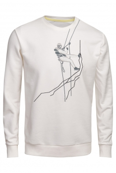 Bluza regular alba alpinist