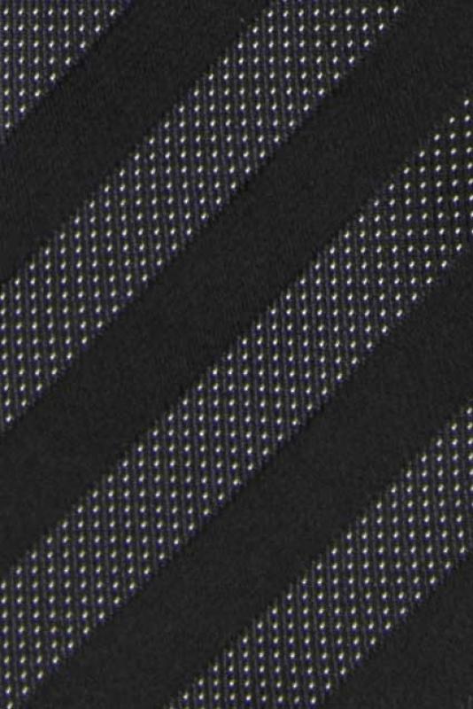 Cravata poliester tesut neagra cu dungi