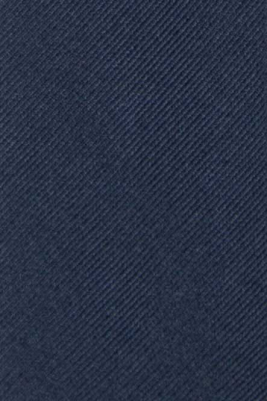Cravata matase tesuta bleumarin uni