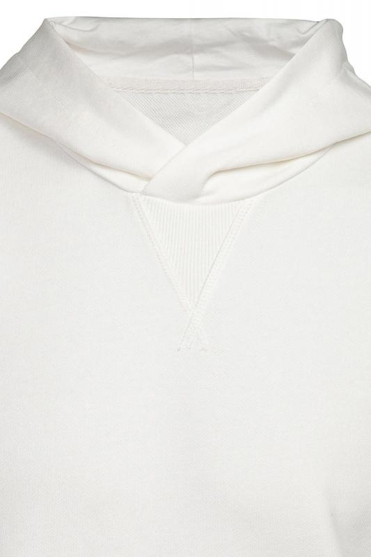 Hanorac alb cu gluga