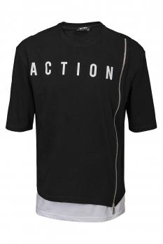 Tricou oversize negru