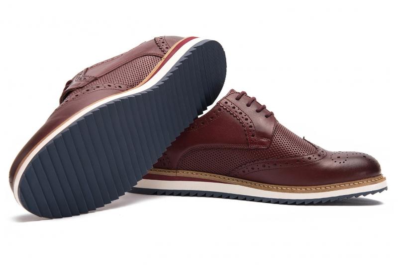 Pantofi grena piele naturala