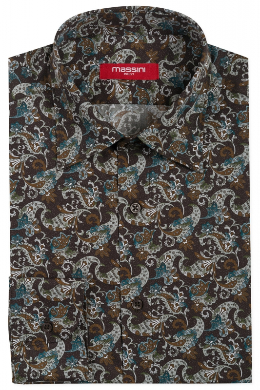Camasa regular pruna PRINT FLORAL