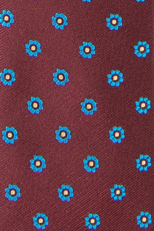 Cravata poliester tesut grena print floral